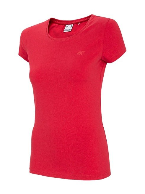 T-shirt damski 4F TSD001 czerwony bawełna