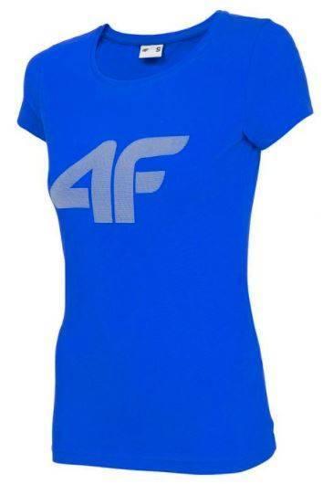 T-shirt damski 4F TSD005 bawełniany niebieski