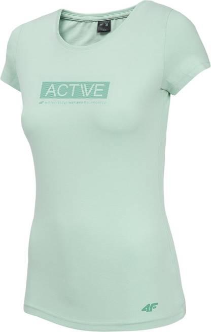 T-shirt damski 4F TSD013 miętowy bawełniany