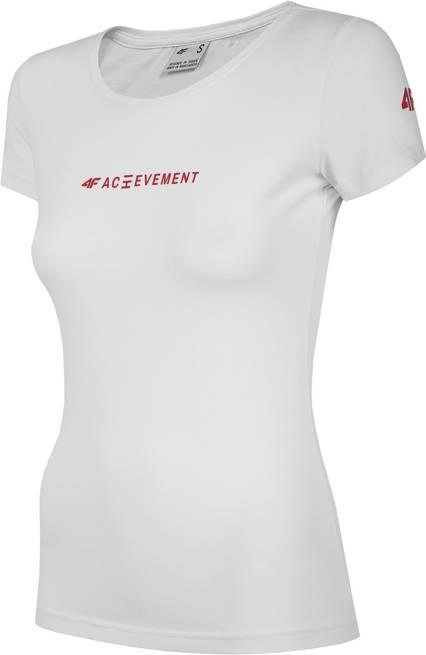 T-shirt damski 4F TSD020 bawełniany biały