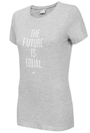 T-shirt damski 4F koszulka szara TSD007