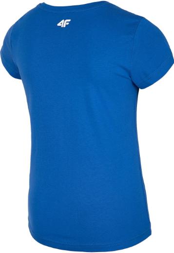 T-shirt dziewczęcy 4F JTSD009A niebieski