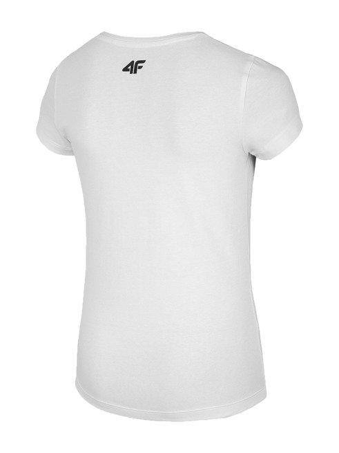 T-shirt dziewczęcy 4F JTSD012 BIAŁY