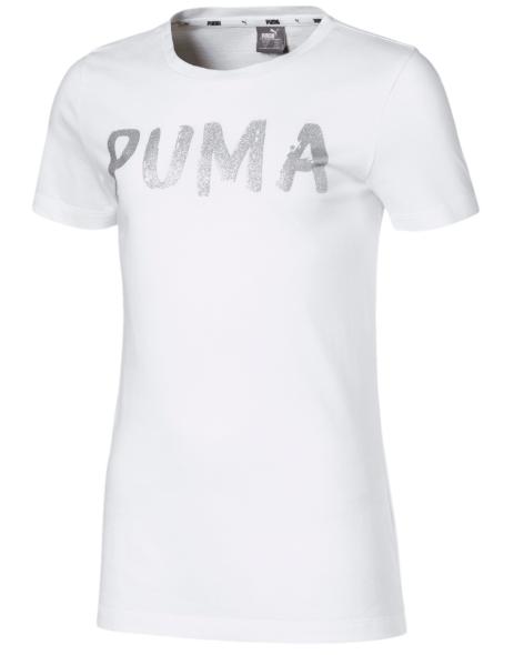 T-shirt dziewczęcy PUMA 581360 02 biały