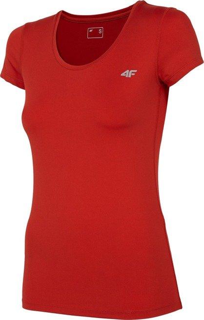 T-shirt funkcyjny damski 4F TSDF002 CZERWONY