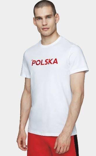 T-shirt koszulka męska 4F kibica TSM503 biała