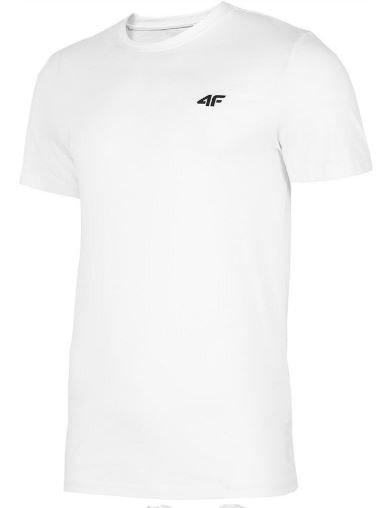 T-shirt męski 4F TSM003 biały bawełniany