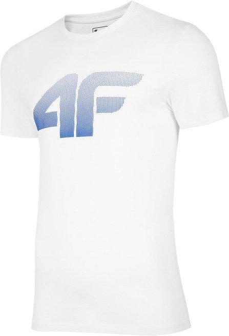 T-shirt męski 4F TSM004 BIAŁY bawełniany