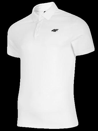 T-shirt męski 4F TSM007 polo biały
