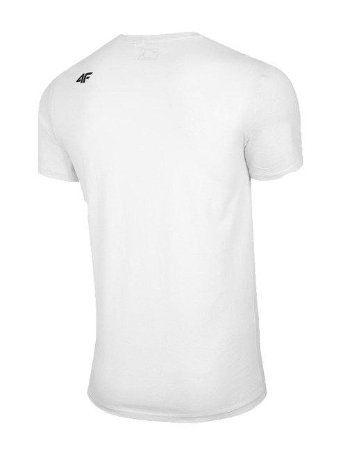 T-shirt męski 4F TSM027 BIAŁY