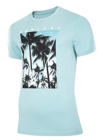 T-shirt męski 4F TSM034 koszulka niebieska