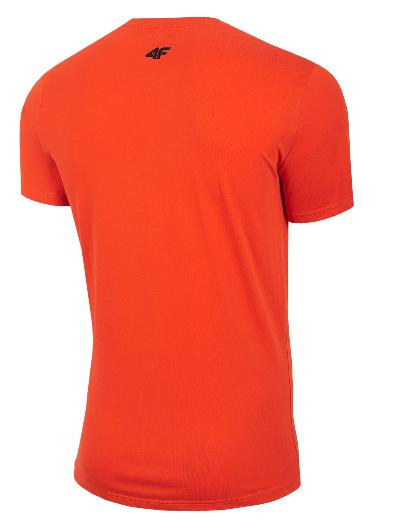 T-shirt męski 4F TSM062 POMARAŃCZ
