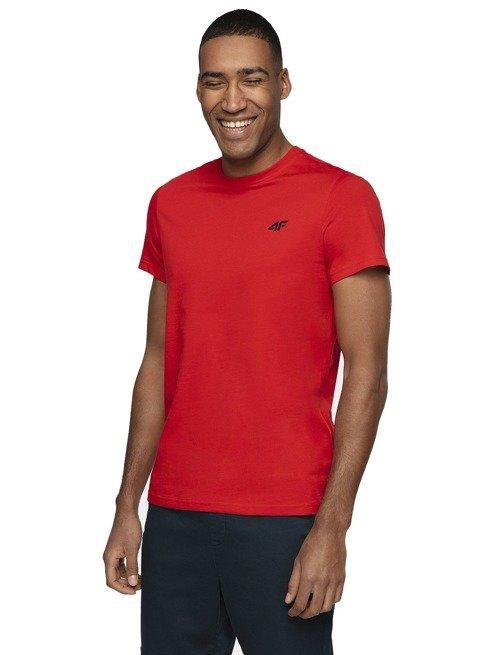 T-shirt męski 4F czerwony TSM003