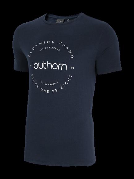T-shirt męski OUTHORN TSM600A bawełniany granat