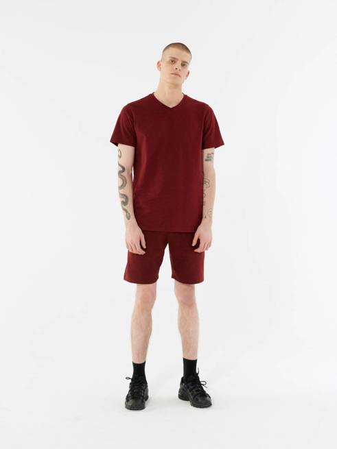T-shirt męski OUTHORN TSM647 bawełniany bordo