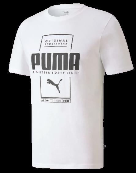 T-shirt męski PUMA 584505 02 koszulka biała