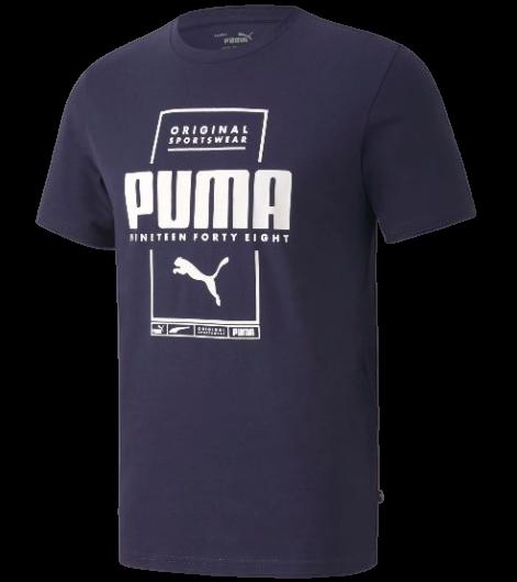 T-shirt męski PUMA 584505 06 koszulka granat