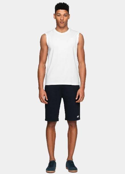T-shirt męski TSM001 bez rękawów 4F biały