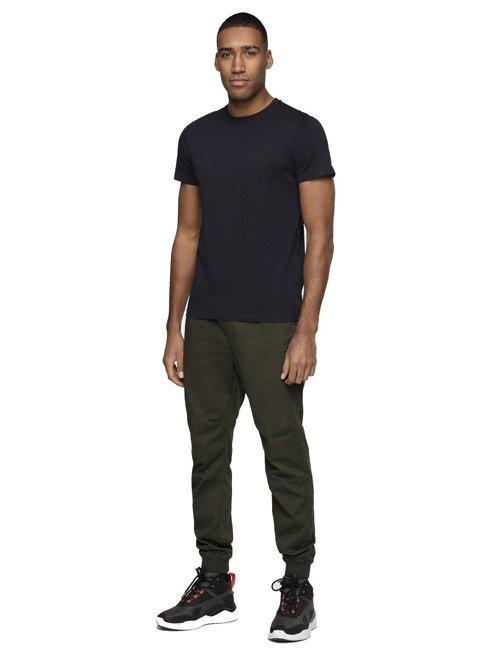 T-shirt męski TSM003 4F granatowy bawełna
