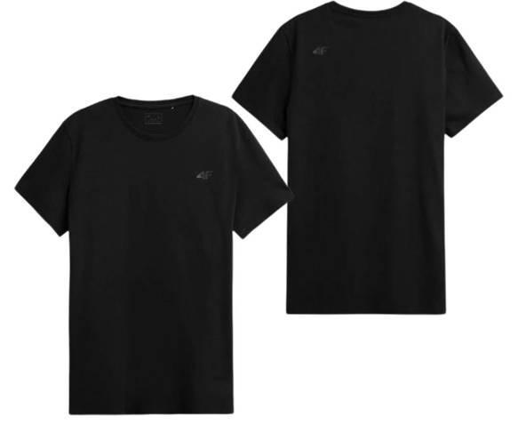 T-shirt męski bawełniany 4F TSM352 czarny