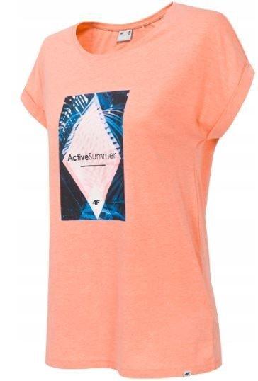 T-shisrt damski 4F koszulka pomarańczowa TSD010