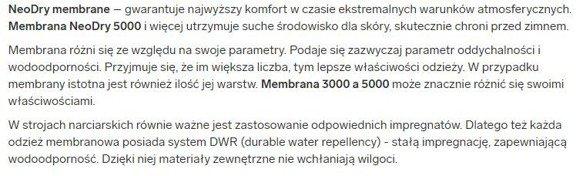 kurtka  narciarska damska KUDN001